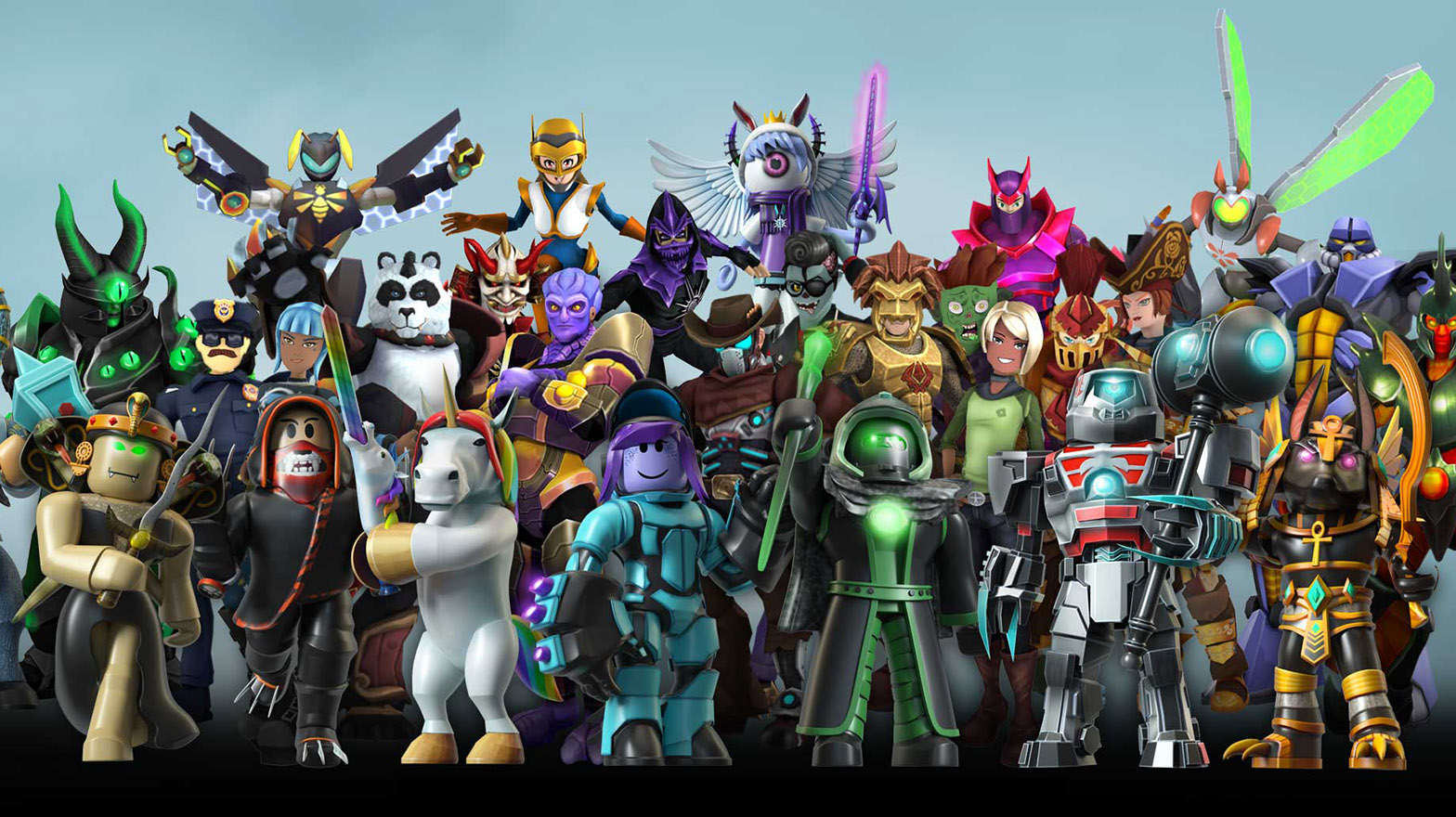 Link up of Roblox characters